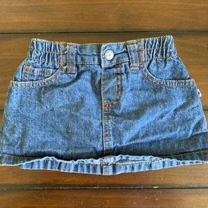 Carter's 12mo girls jean skirt with under cover